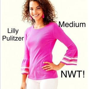 lilly pulitzer Pink callee sweater m